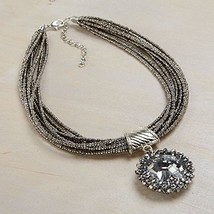 Otm - Neck Silver Seed Bead With