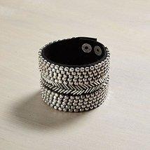 Otm - Brac Silver Bead Black Lea