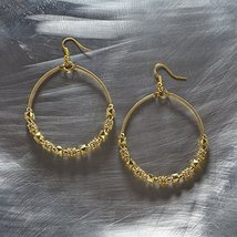Otm - Ear Gold Large Bead Hoop