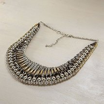 Otm - Neck Mix Metal Bead Bib