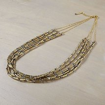 Otm - Neck Gold Tube Bead With H