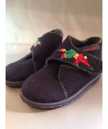 Elefanten Toddler Wool Boots Size 4 EUR 19 Embroidered Elephant Velcro D... - $22.24