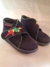 Elefanten Toddler Wool Boots Size 3 EUR 18 Embroidered Elephant Velcro D... - $19.34
