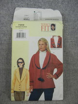 Misses  Bust 32-36 Petite Loose fitting raglan sleeve Jacket  Vogue 7359  - $6.00