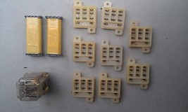 5 Ll90 Assorted Relays & Mounts: Potter & Brumfield Krp11 A 24 Vac, (2) Clare Cr2 T - $28.55
