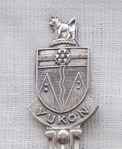 Collector Souvenir Spoon Canada Yukon Territory Whitehorse Coat of Arms - $14.99