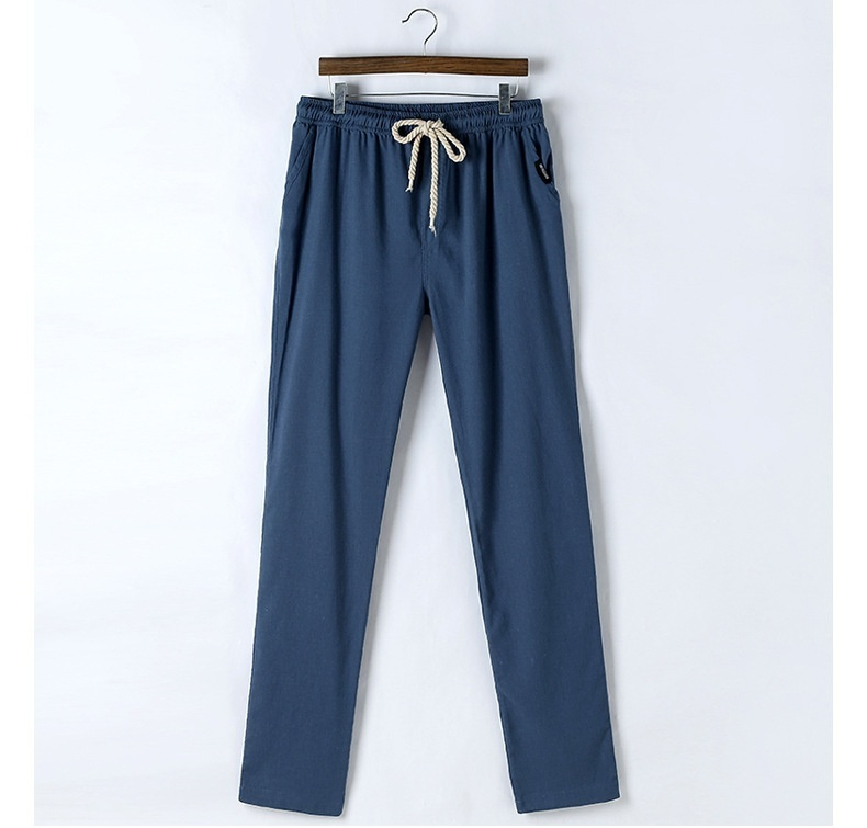 Men's Comfort Linen Casual Loose Pants image 9