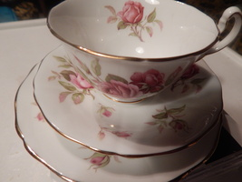 Adderley cup and saucer bone china England Free Shipping 3 piece set & 2... - $35.99