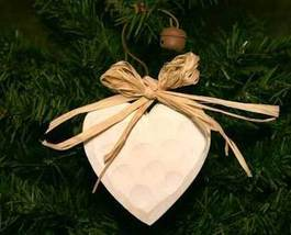 Wooden Country Heart Christmas Ornament - $4.99