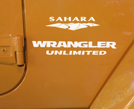 jeep wrangler sahara logo. jeep wrangler unlimited sahara replacement stock logo full set decals white 1999