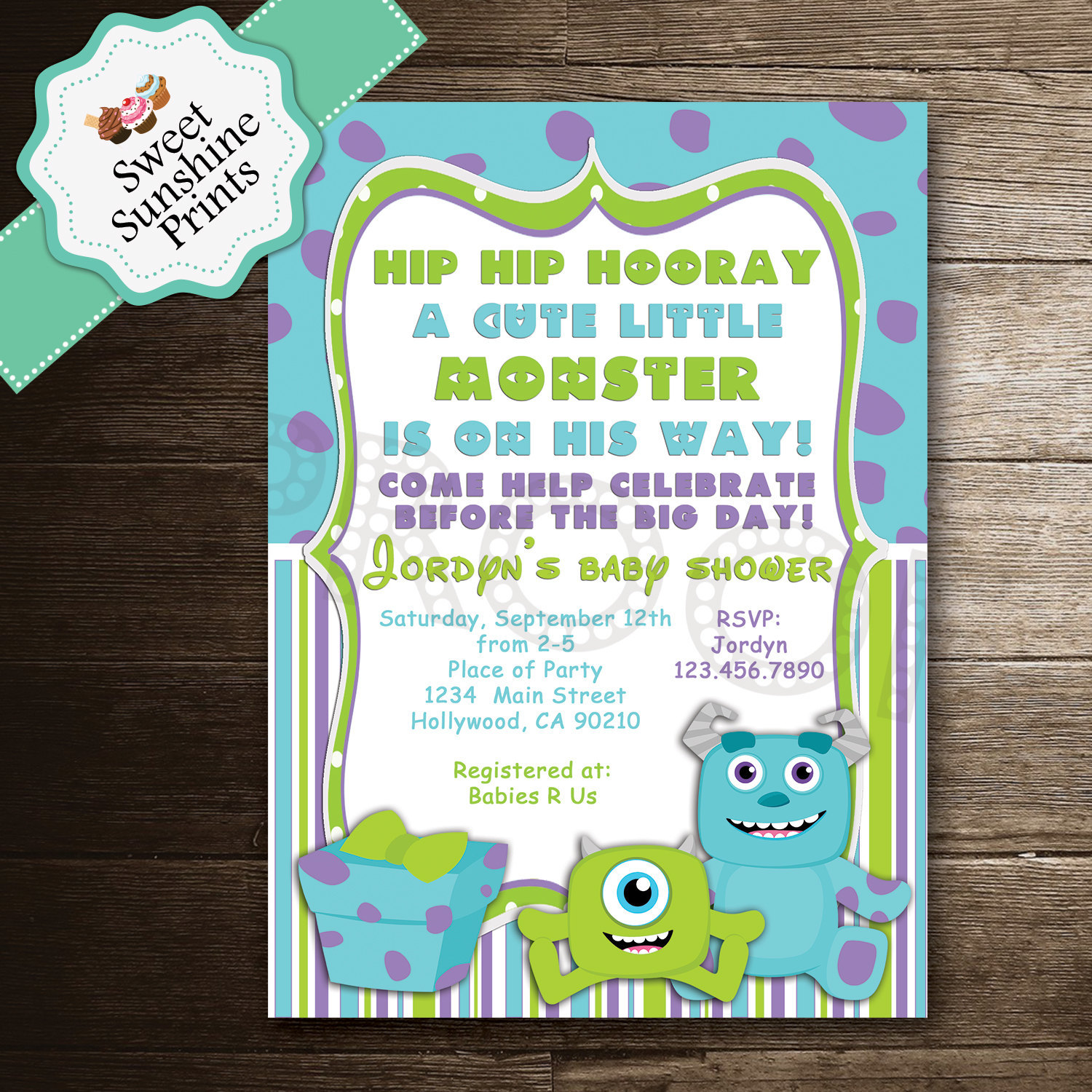 Monster Inc Baby Shower Invitations could be nice ideas for your invitation template