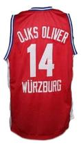 Dirk Nowitzki Wurzburg Germany Basketball Jersey New Sewn Red Any Size image 4