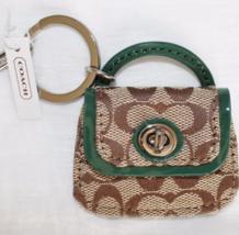 Coach Signature C Khaki Park Handbag Purse Keychain KeyRing coach access... - $39.99