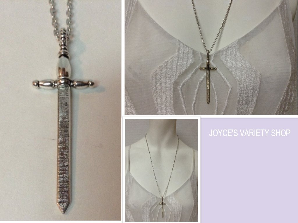 Sword necklace collage