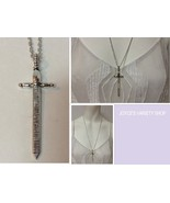 "Metal Medieval Sword Necklace Pendant Silver Tone 23"" Chain NEW - $9.99"