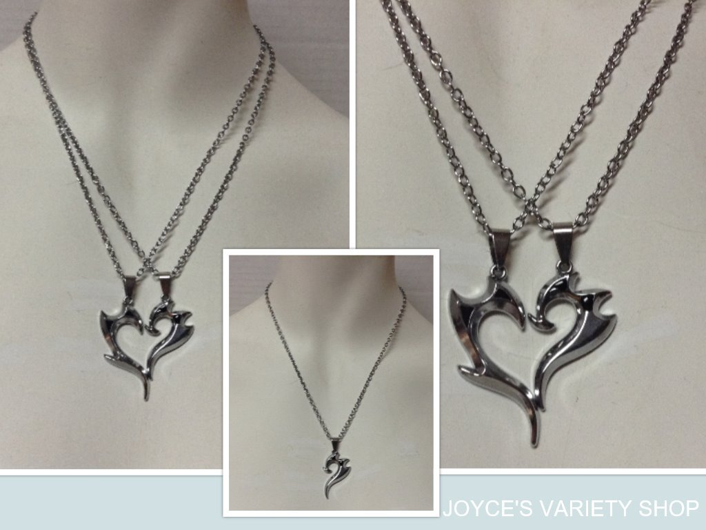 Two hearts necklace collage