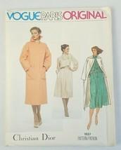 Vogue Paris Original Christian Dior 1837 Misses Coat Dress Sewing Pattern Uncut - $14.84