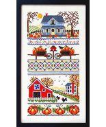 Mrs. Smith Pumpkin Farm cross stitch chart Bobbie G Designs - $7.20