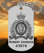 RCMP Keychain, Personalized FREE with Name! Royal Canadian Mounted Police - $9.95