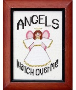 Angels Watch Over Me cross stitch chart Bobbie G Designs - $6.30