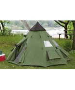 Outdoor Camping 10 X 10 Teepee Tent Tents WaterProof Canopies 6 Person S... - $168.99