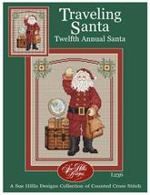 Traveling Santa cross stitch chart Sue Hillis Designs - $9.00