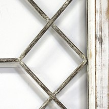 "39.37"" X 1.18"" X 19.69"" Distressed White Window Panel Wall Decor - $78.09"