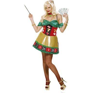 Paper magic lady luck costume