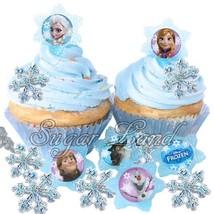 24 Disney Frozen Cupcake/Cake Decorating Suppli... - $24.74
