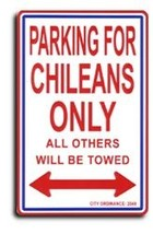 Chile Parking Sign - $11.94