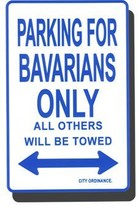 Bavaria Metal Parking Sign - $11.94