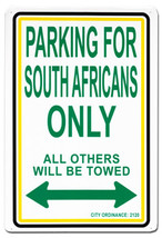 South Africa Parking Sign - $11.94