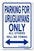 Uruguay Parking Sign - $11.94