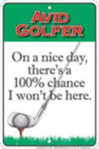 Golfers Parking Sign - $13.14