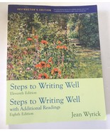 Steps to Writing Well 8th Ed 11th Ed Instructor Edition by Jean Wyrick P... - $89.99