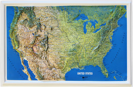 """USA - 26"""" x 17"""" Relief Map - $35.94"""