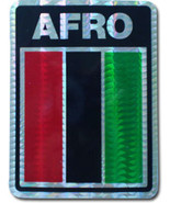 African American Reflective Decal - $2.70