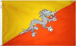 Bhutan flag 3x5nylon new thumb200