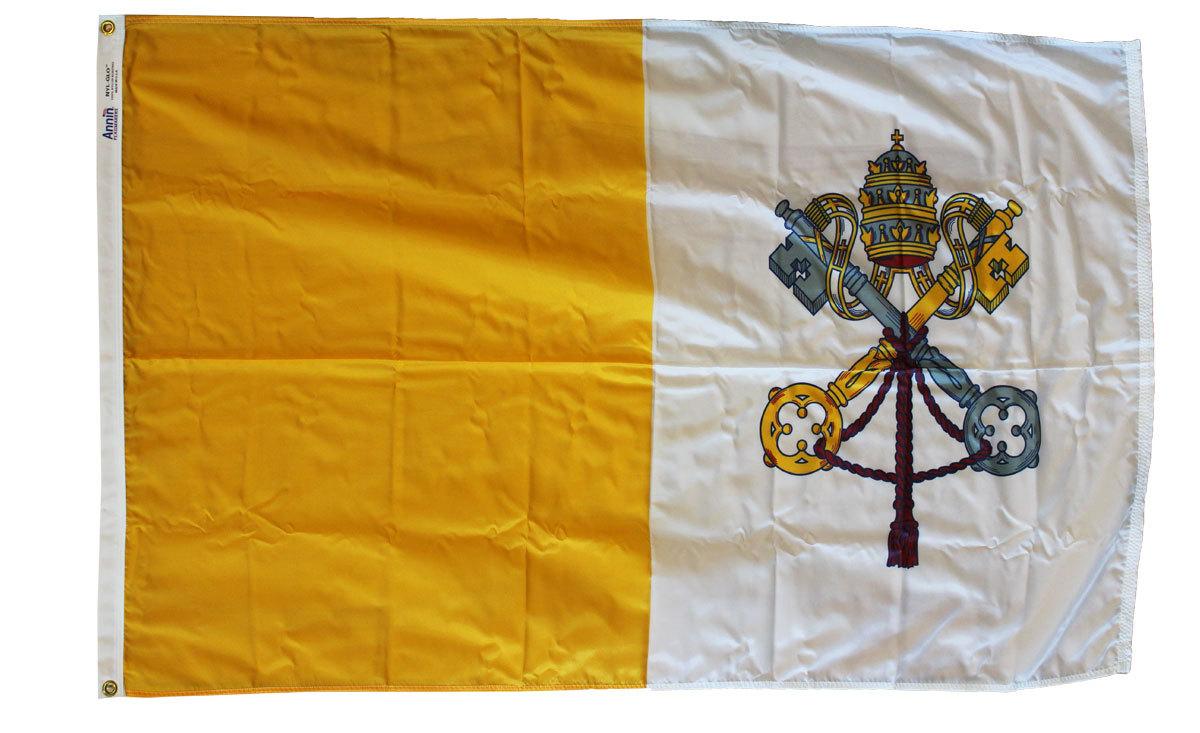 Vatican 3x5 nylon flag