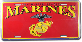 Marines License Plate (Chrome) - $11.94