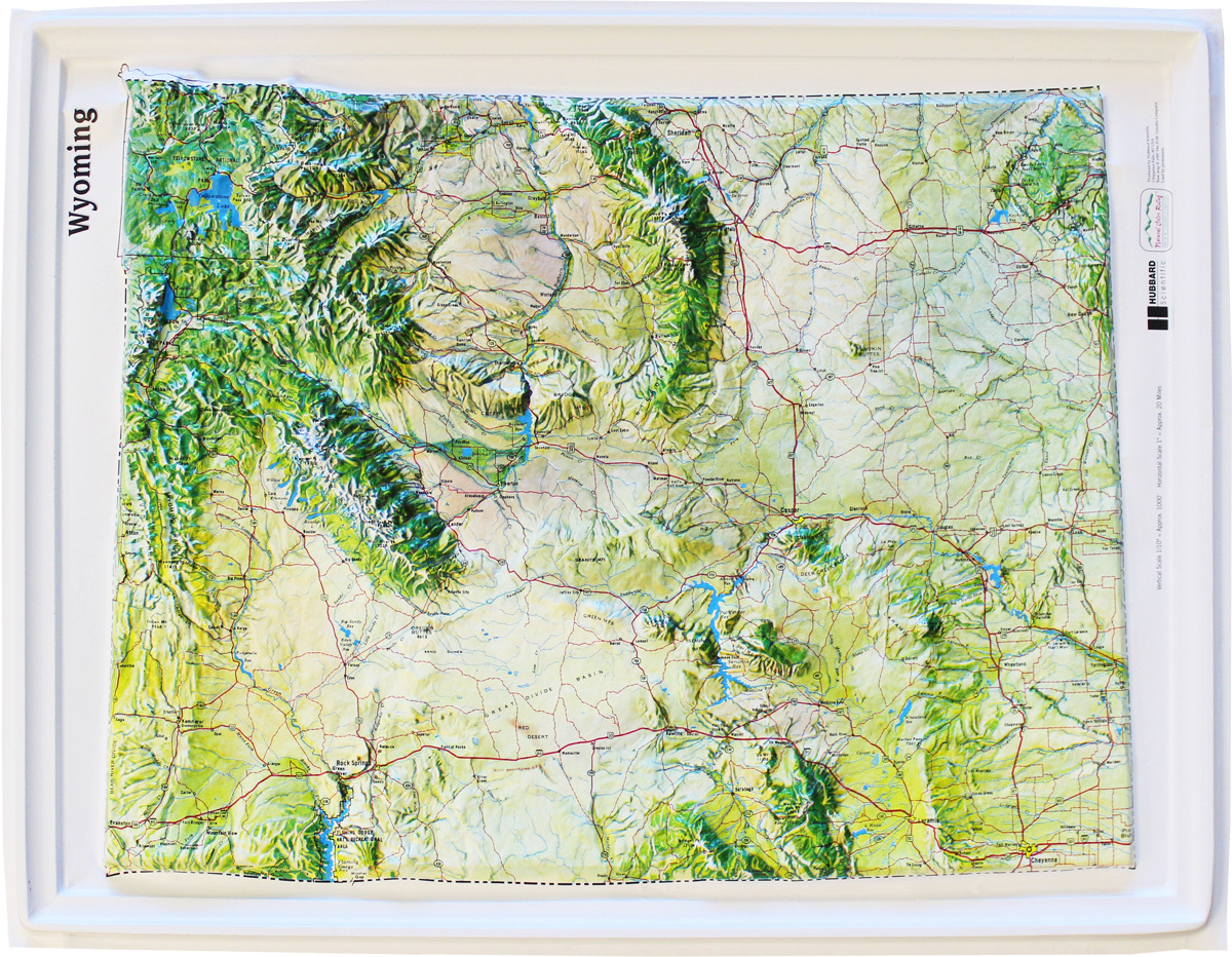 Wyoming Relief Map  Maps