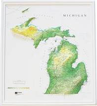Michigan Relief Map - $39.60