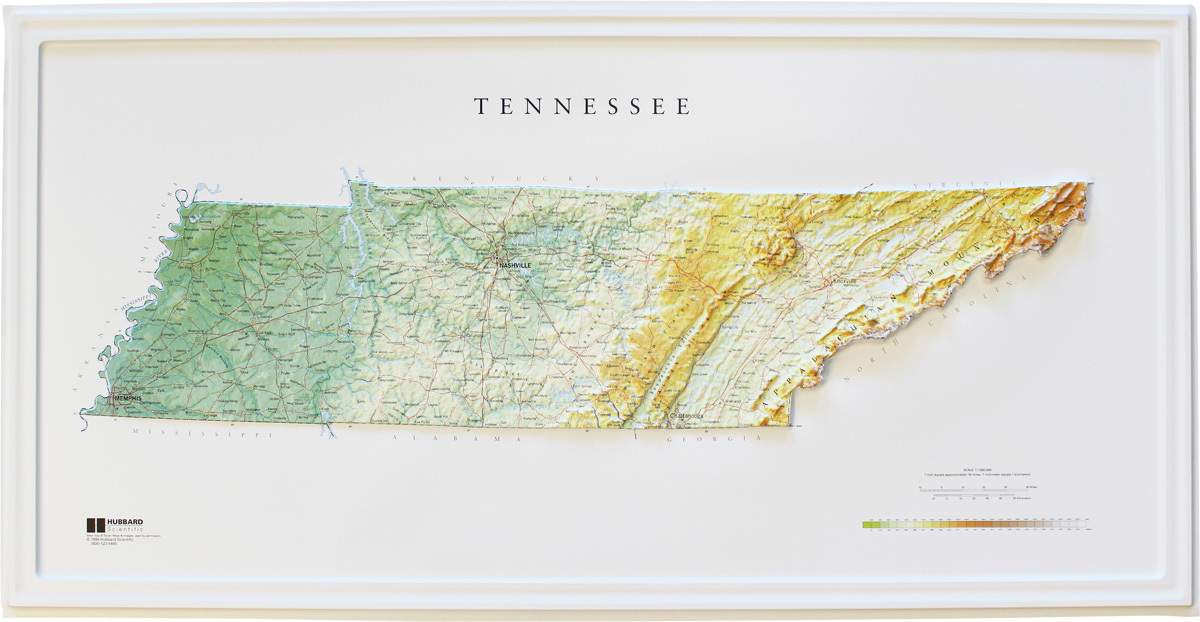 Tennessee Relief Map  Maps