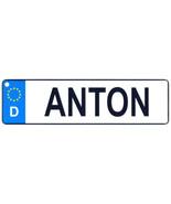 Anton - European License Plate (Germany) - $9.00