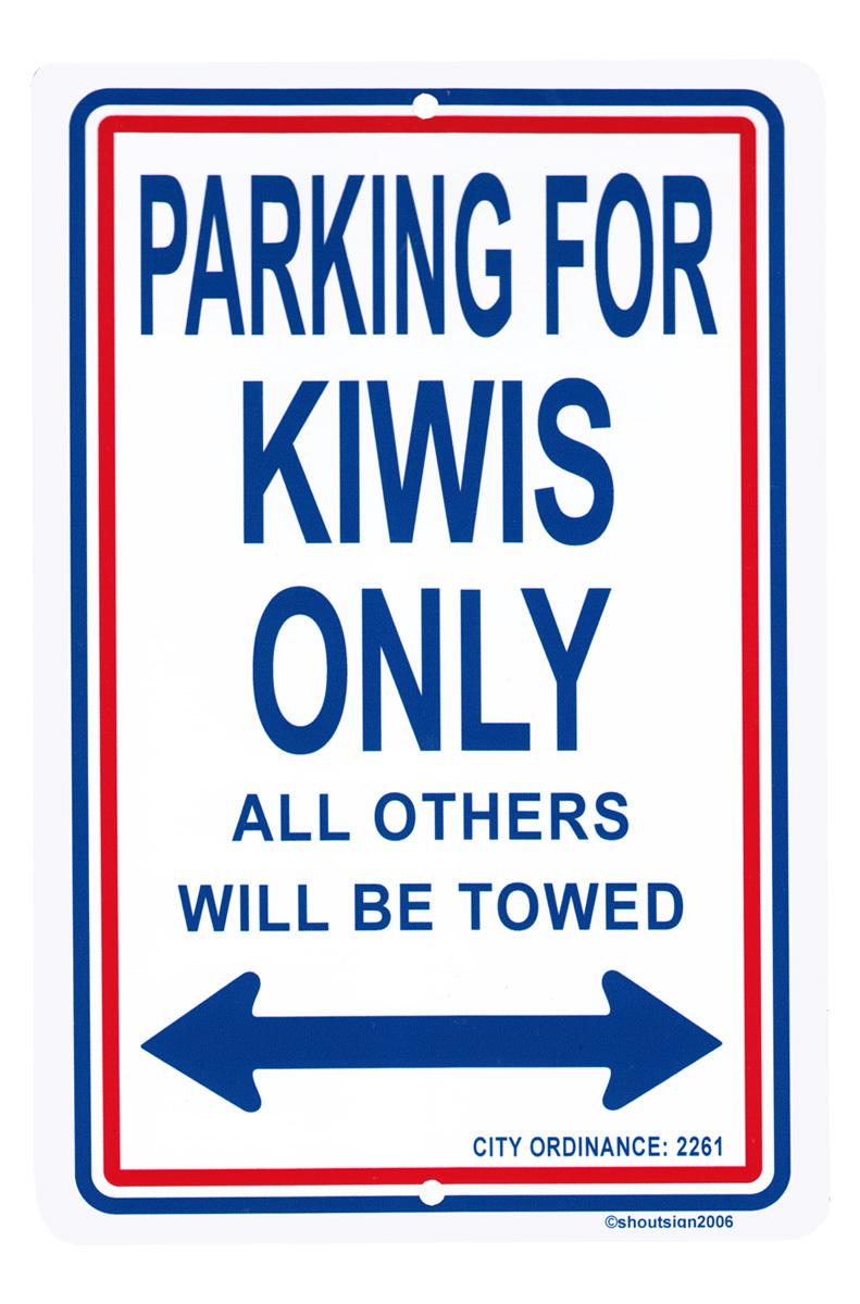 New Zealand Parking Sign - $11.94