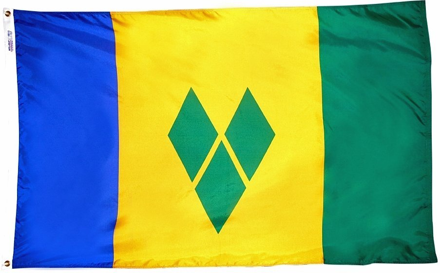 St vincent grenadines flag 3x5nylon 0