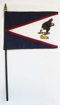 "American Samoa - 4""X6"" Stick Flag - $2.82"