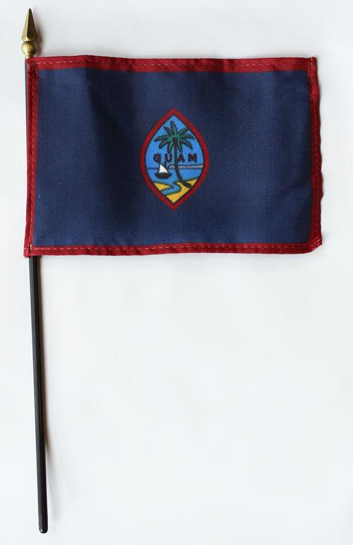 "Guam - 4""X6"" Stick Flag"