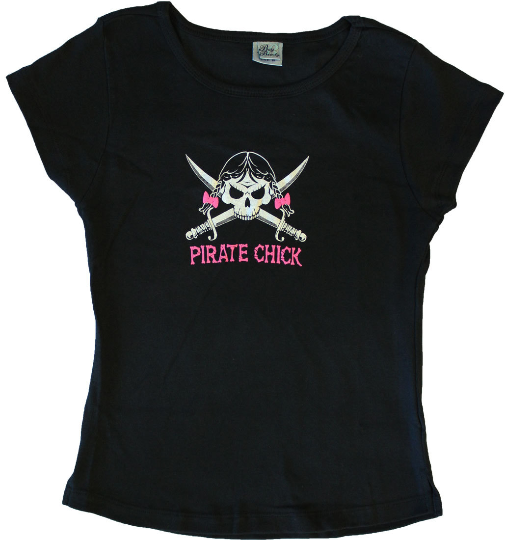 Pirate Chick Cotton Babydoll T-Shirt (M)