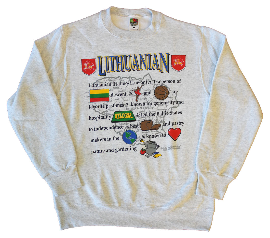 Lithuania National Definition Sweatshirt (L)